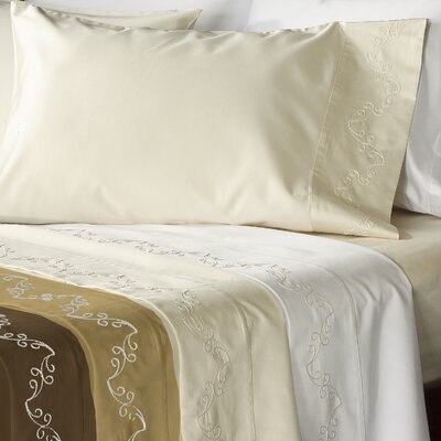 Veratex, Inc. Supreme Sateen 800 Thread Count Scroll Pillowcase (Set of 2)