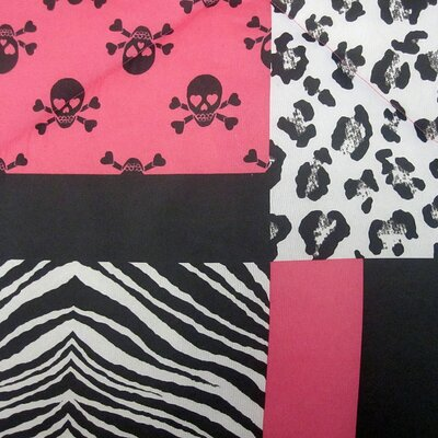 Veratex, Inc. Skulls Comforter Set in Pink