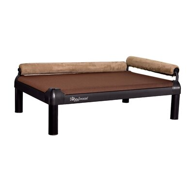 SnoozeLounge Dog Bed with Long Legs and a Black Anodized Frame