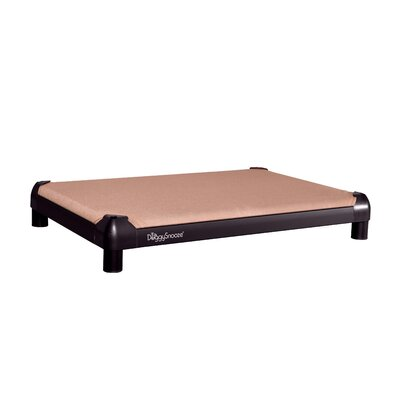 DoggySnooze SnoozePad Dog Bed with an Inside Memory Foam Layer and a Black Anodized Frame ...