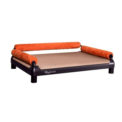 DoggySnooze SnoozeSofa Dog Bed with a Black Anodized Frame