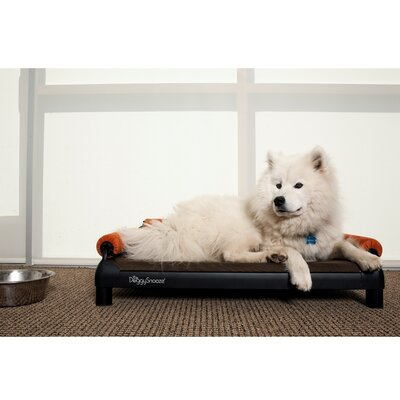 DoggySnooze SnoozeSofa Dog Bed with Long Legs and a Black Anodized Frame