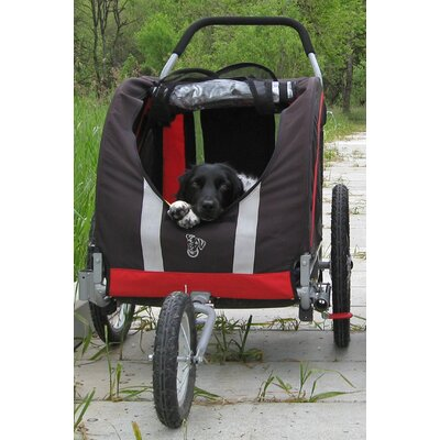 DoggyRide Novel Dog Jogger / Stroller in Urban Red