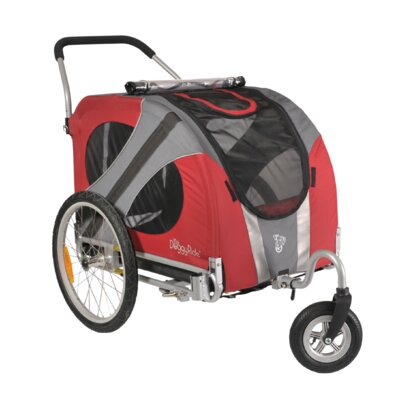 Novel Dog Stroller in Urban Red