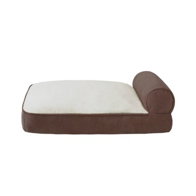 Rhino Skin Bolster Lounger Dog Bed in Brown
