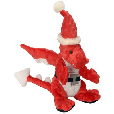Go Dog Santa Dragon Dog Toy with Chew Guard