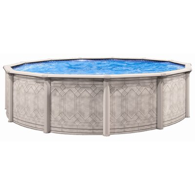 "Trevi Aqua Deluxe 52"" Oval Sunscape Above Gound Pool"