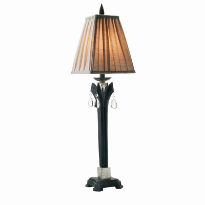 Eurofase Kam One Light Buffet Lamp in Burnished Charcoal