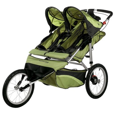 Schwinn Arrow Fixed Wheel Double Jogging Stroller