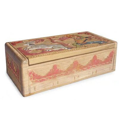 Novica 'Legend of Sita and the Golden Deer I' Jewelry Box