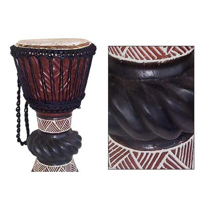 Novica 'Ceremonial Celebrations' Djembe Drum