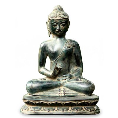 Novica 'Buddhas Smile of Serenity' Sculpture