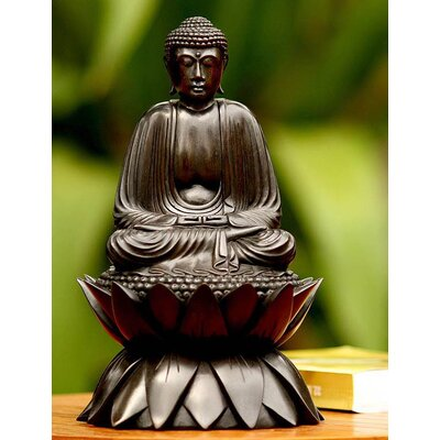 Novica 'Meditating Buddha on Lotus' Sculpture