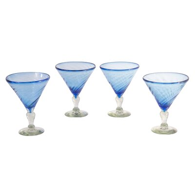 Javier and Efren Ice Martini Glass (Set of 4)