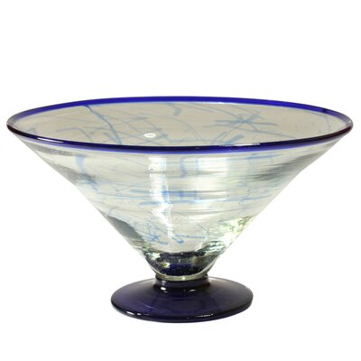 Cantel Blown Glass Artisans Decorative Glass Centerpiece