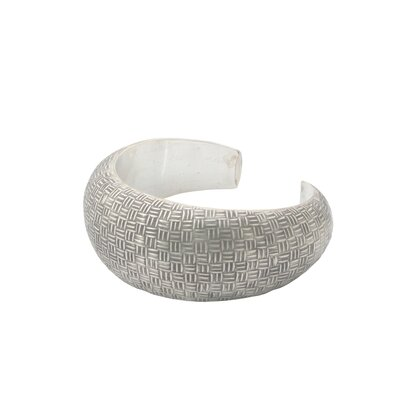 The Achara Artisan Sterling Silver Woven Illusion Cuff Bracelet