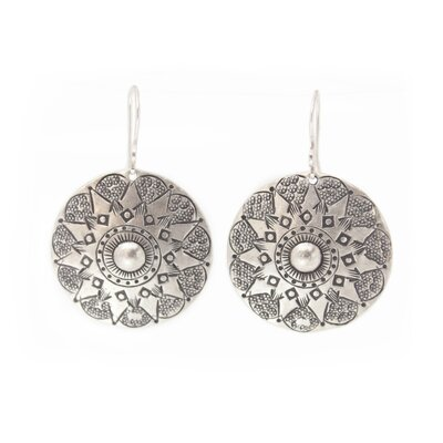 The Achara Artisan Lampang Moon Dangle Earrings