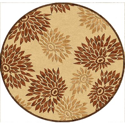 nuLOOM Veranda Flowered Sand/Brown Rug