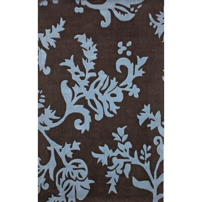 nuLOOM Cine Paisleys Brown/Blue Rug