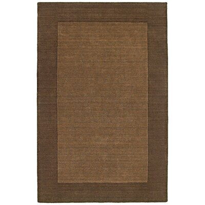 nuLOOM Structures Chocolate Border Rug