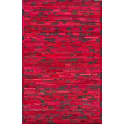 nuLOOM Hudson Chevron Red Rug