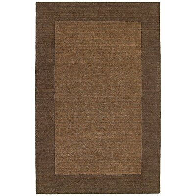 Bella Solid Border Chocolate Rug