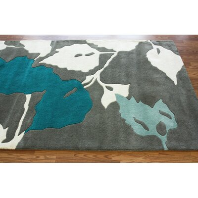 nuLOOM Bella Leaves Blue Rug