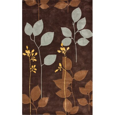 nuLOOM Cine Fletcher Chocolate Brown Rug