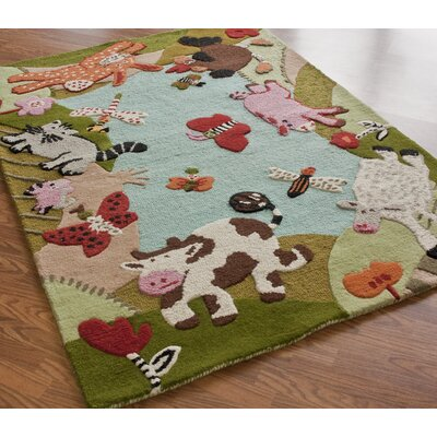 nuLOOM KinderLOOM Animal Land Multi Kids Rug
