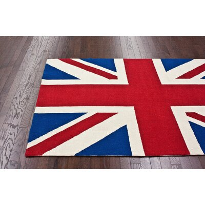 nuLOOM Chelsea Union Jack Red Novelty Rug