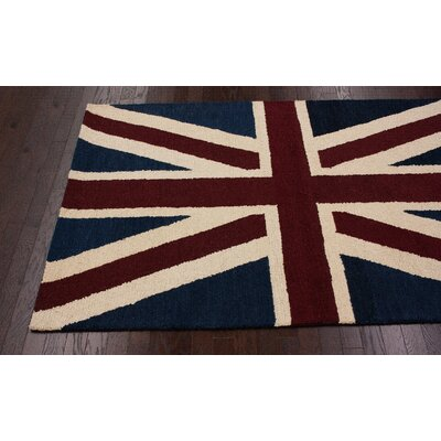 nuLOOM Marbella Union Jack Denim Novelty Rug