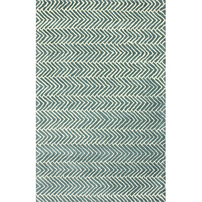 nuLOOM Fancy Teal Chevron Rug