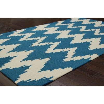nuLOOM Pop Medium Blue nuChevron Rug