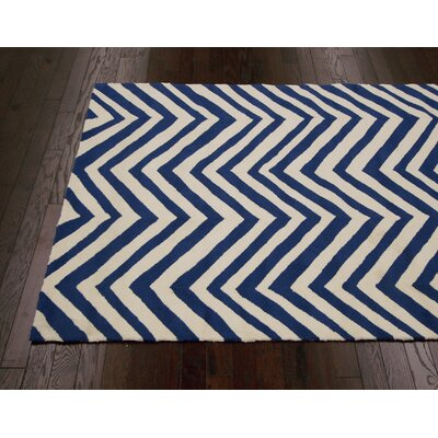 nuLOOM Homestead Navy Arron Chevron Rug