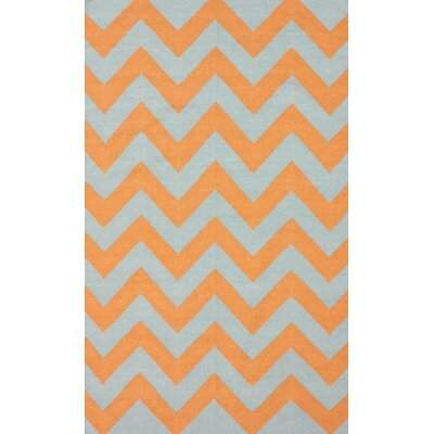 Moderna Orange Chevron Rug