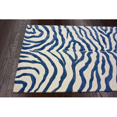 nuLOOM Earth Royal Blue Radiant Zebra Rug