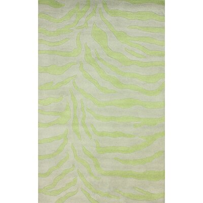 nuLOOM Earth Lime Plush Zebra Rug