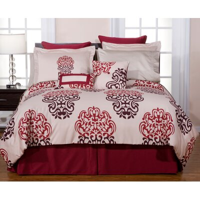 Pointehaven Luxury 12 Piece Bedding Set in Cherry Blossom