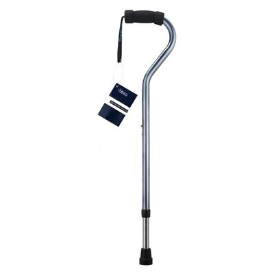 SkyMed Stainless Steel Bariatric Walking Cane in Slate Grey