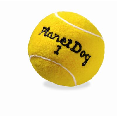 Planet Dog Squeaky Plush Tennis Ball Dog Toy