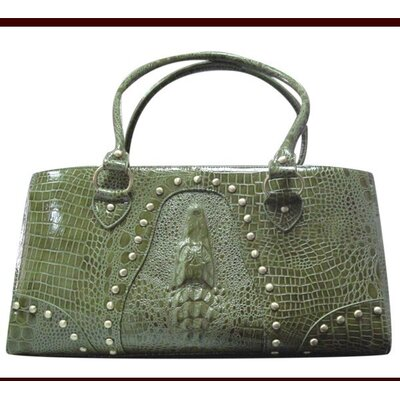 Faux Leather Handbag Pet Carrier in Green