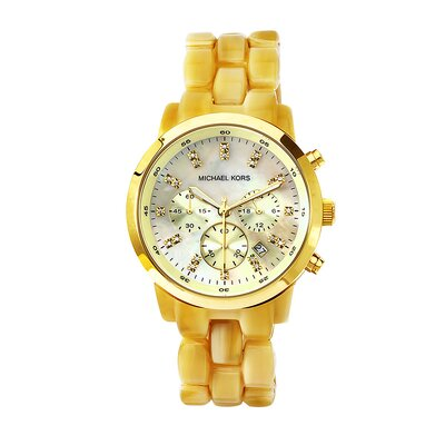 Michael Kors Women's Classic Gold Tone Acrylic Watch