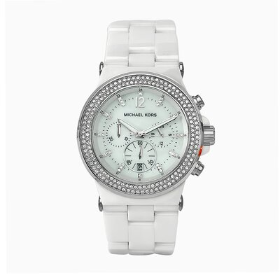 Michael Kors Women's Bel Aire Ceramic Watch in White