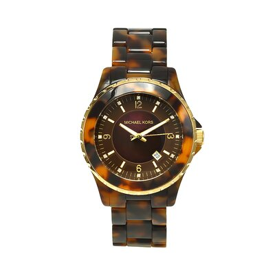 Michael Kors Women's Madison Watch in Brown Tortoise