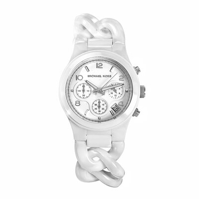 Michael Kors Women's White Link Watch
