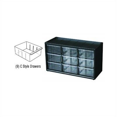 Flambeau Parts-Station 9 Drawer Plastic Parts Cabinet