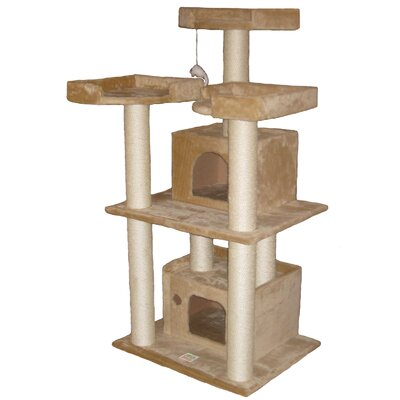 "Go Pet Club 51"" Cat Tree Condo in Beige"