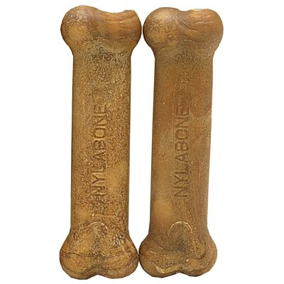Nylabone Medium Bacon Daily Health Bone Dog Treat (2-Pack)