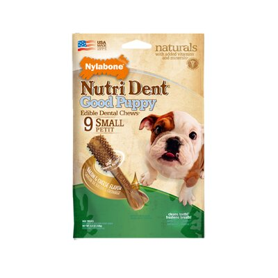 Nylabone Nutri Dent Puppy Bacon and Cheese Dog Treat