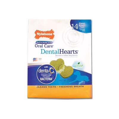 Nylabone Advanced Oral Care Dental Hearts Dog Toy - 14 Count